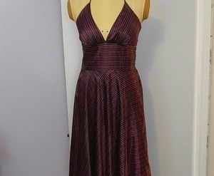 Vintage style halter striped dress by Alyn page